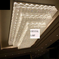 Hotel KTV lobby rectangular crystal lamp banquet living room ceiling sales department sand table lighting project led fixture