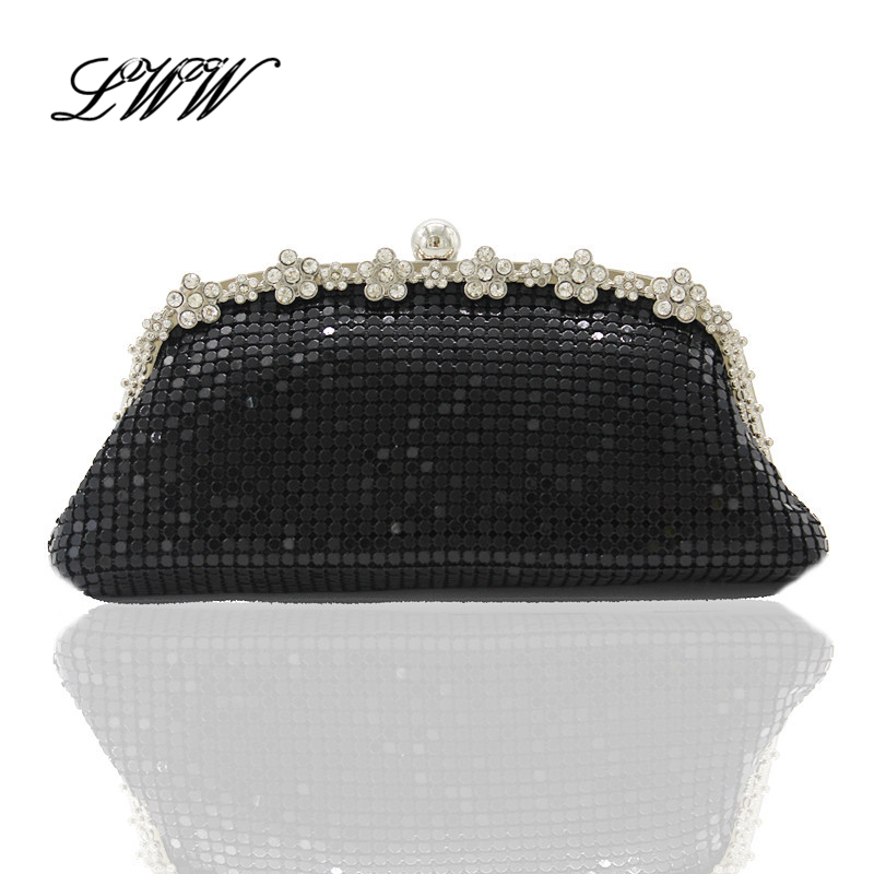 Party Dress Small Solid Novel Black Fashion Evening Clutch Bags Clutches Women with Exquisite Diamonds