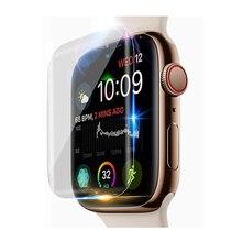 Защита экрана для Apple Watch 4 5 44 мм 40 мм iWatch series 3 2 1 42 мм 38 мм 9D анти-шок полная Гидрогелевая пленка аксессуары для часов