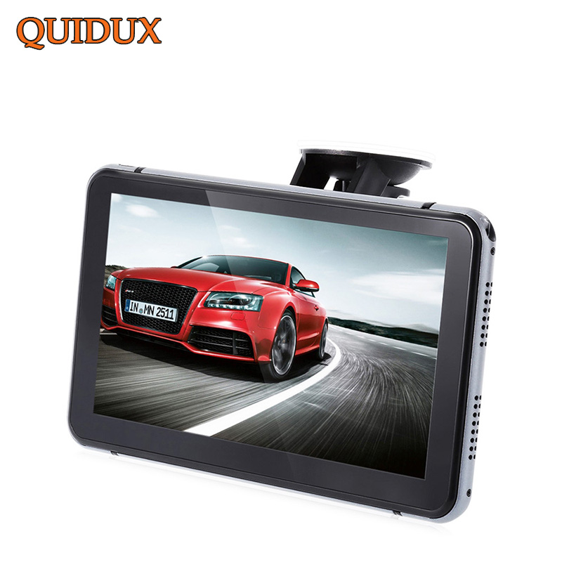 QUIDUX  7 inch FULL HD 1080P Car DVR with GPS Navigation Android ROM 8G Free Upgrade Map Car Video Camera Recorder BlackBox full hd 1080p vehicle blackbox dvr with g sensor