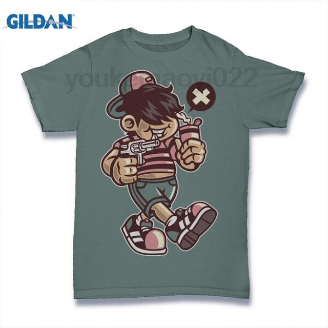 acc79c841e2 Bad Kid t shirt Black T-shirt Men s 2018 T-shirt Men s Trendy T-shirt Men s  Cotton Simple Clothing