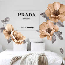 Watercolor painting wall sticker home decor living room  flower mural wall art home decoration accessories wallpaper vinilo diy