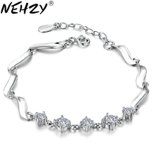 NEHZY Silver five with four claw female models crystal bracelet cute fashion jewelry wild super flash retro crystal jewelry