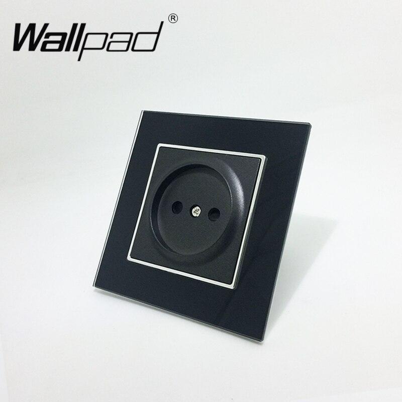 Enchufe estándar ruso de la UE 16A con el Panel de cristal negro de la almohadilla de las garras del Panel de pared de la pared de Rusia de la UE con la boca de los Clips del gancho