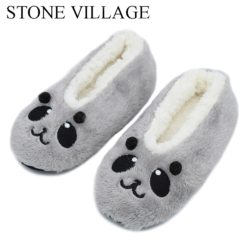 cartoon cute  2017 Indoor Home Slippers Warm Soft  Plush slippers  Comfortable Indoor Fur Slippers Striped Cute Women Shoes soft house coral plush slippers shoes white