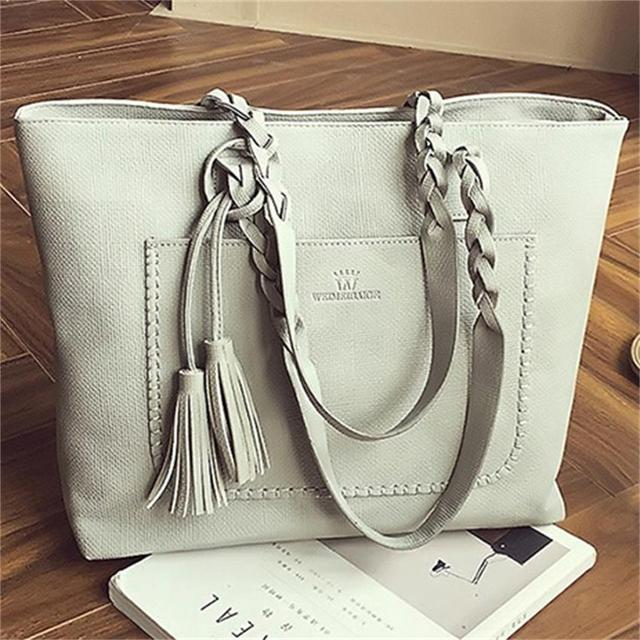ca0d6a2c6b fashion women soft faux leather shoulder bag women big tote bag large  capacity portable crossbody messenger bag brand handbags