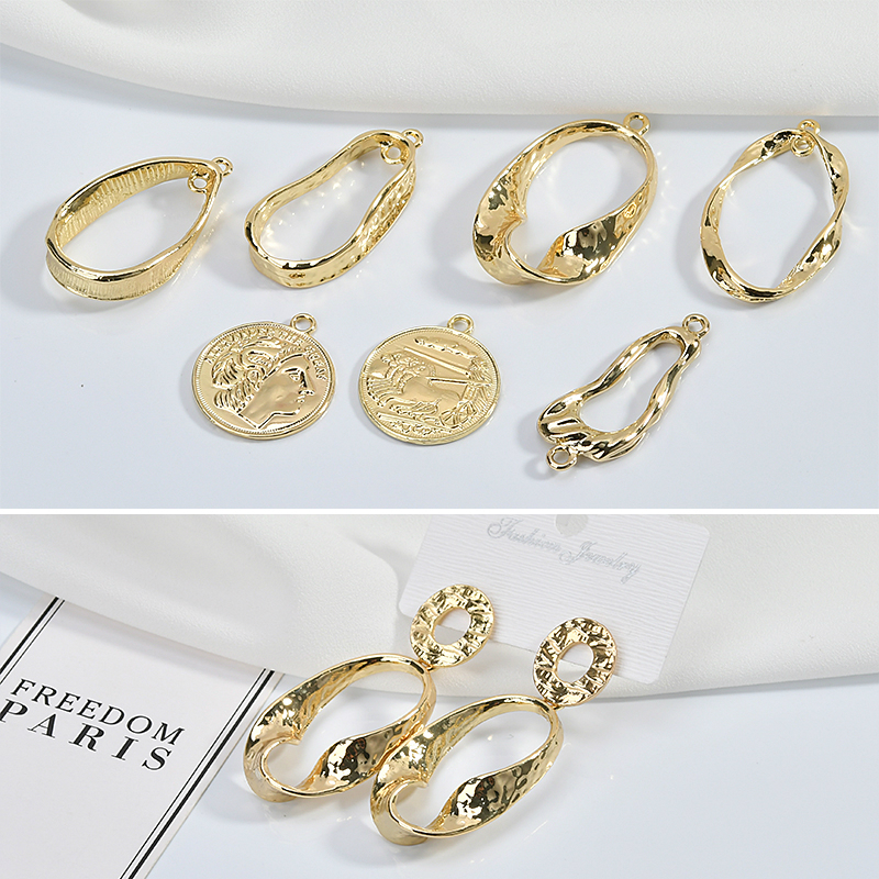 European And American Retro Baroque Style Shaped Earrings Accessories DIY Handmade Ear Jewelry Materials