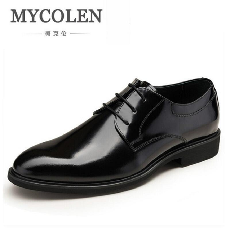 MYCOLEN Designer Luxury Brand Wedding Shoes Man Patent Leather Black Oxford Shoes For Men Formal Mariage Mens Dress Shoes