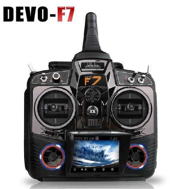 Original Walkera DEVO F7 Remote Controller 7 Channel 5.8G Real Time Image Transmission FPV Transmitter (with battery as gift) walkera devo f12e specialized fpv 32 channel telemetry radio 5 8ghz 12 channel lcd screen free ship