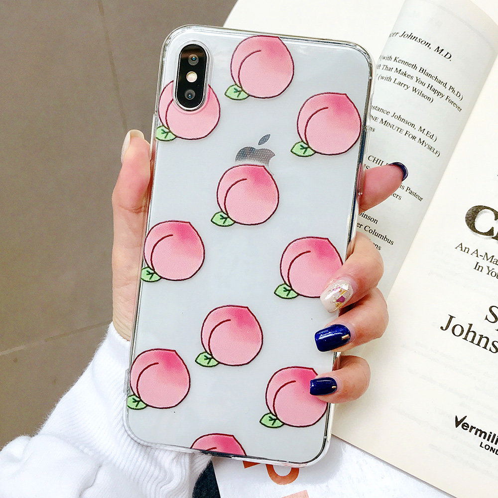 KIPX1084B_1_JONSNOW Phone Case For iPhone XS Max XR XS 7 Plus 8 6 6S 6 Plus Fruit Oranges Pattern Clear Soft Silicone Back Cover Capa Fundas