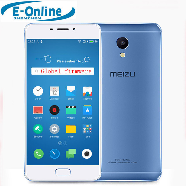 "In stock! Meizu M5 Note Helio P10 Octa Core Mobile Phone 5.5"" 1920x1080 3GB RAM 32GB ROM Fingerprint ID 4000mAh Battery"