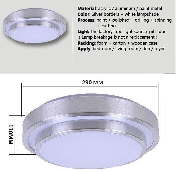 ecf9b039ecf NOVLED Prata De Alumínio Luzes de Teto LED 5 W 12 W 15 W 18 W 24 W  Diamension 28 CM Dupla Lâmpada Linha de Alta Qualidade Preço de Fábrica