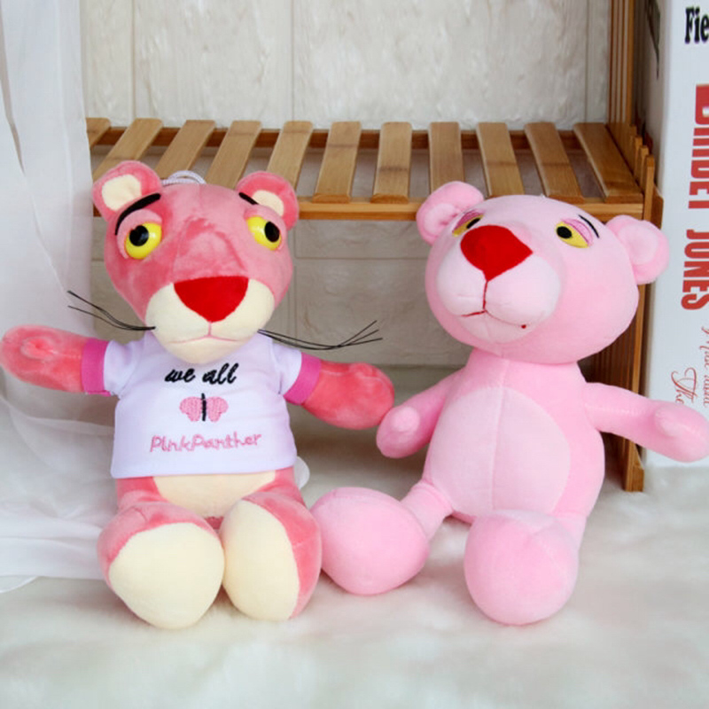 1pc 25cm Kawaii Pink Panther Plush Toy Cute Naughty Pink Panther Baby Plaything Stuffed Animals Plush Doll Girls Children Gifts