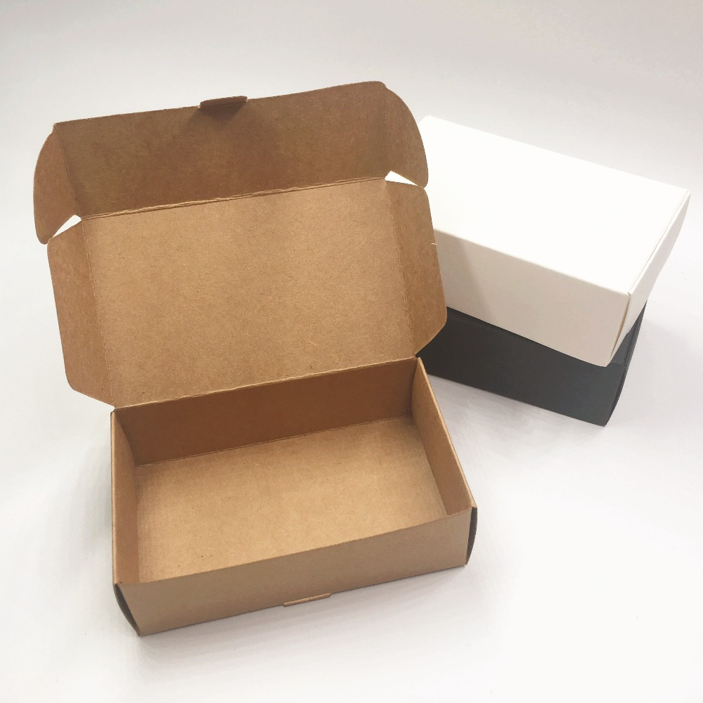 12pcs /lot Craft Kraft Paper Box Packaging Box Wedding Party Small Gift Candy Favor Package Boxes For Handmade Soap Storage