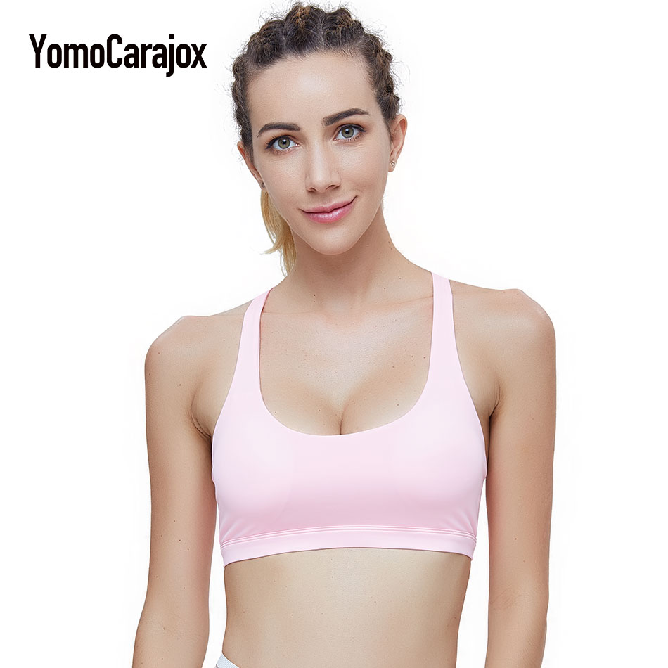 Backless Sportings Bra Women Top Fitness Bras Push up Strappy Brassiere Sportswear Top Vest Yuga Padded Bras Sexy Underwear
