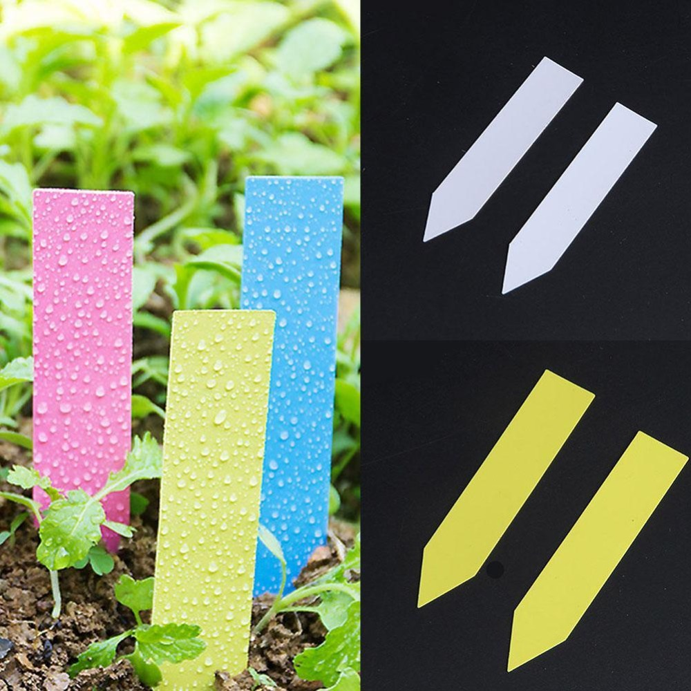 100 PCS Reusable PVC Plants Tag Labels Tree Fruits Seedling Garden Flower Pot Plastic Tags Sign Classification Tools