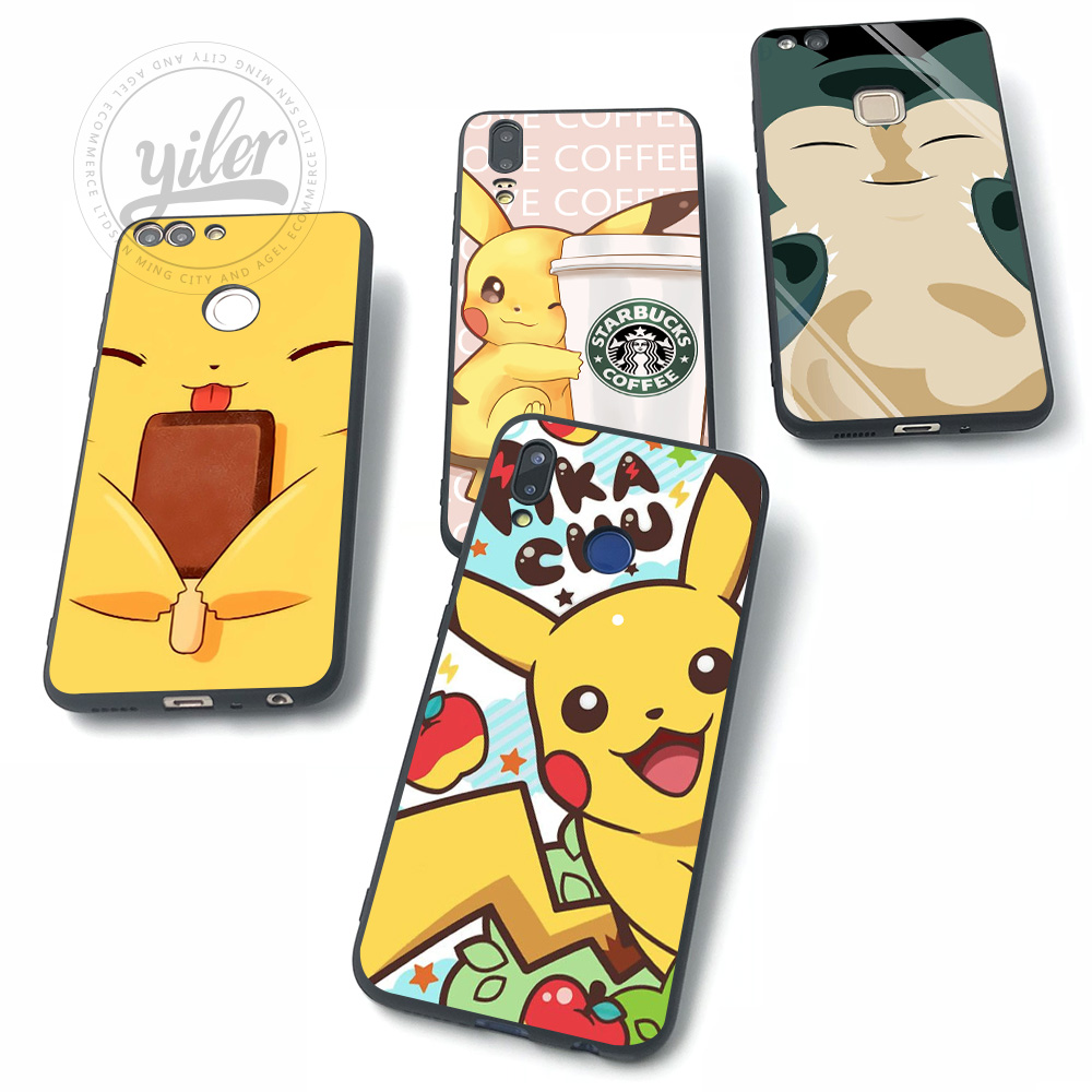 Pocket Monsters For Huawei NOVA 3 Cases for Huawei P20 lite Case for Huawei P Smart P10 lite P8 P9 lite P20 P30 Pro lite Cases in Fitted Cases from Cellphones Telecommunications