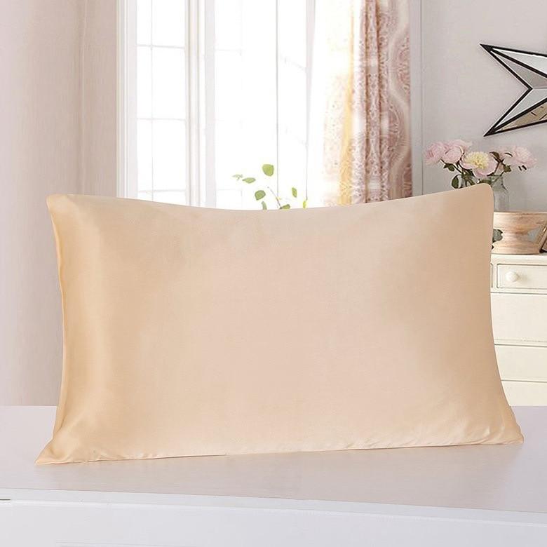 100% 뽕나무 실크 19mm 16mm pillowcases 샴페인 은빛 색상 51x71 cm 지퍼 2 조각 판매-에서베개 케이스부터 홈 & 가든 의  그룹 1