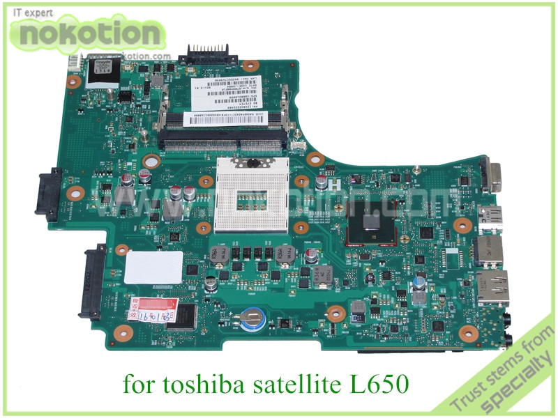 NOKOTION Mainboard PN 1310A2332402 SPS V000218080 For toshiba satellite L650 Laptop motherboard HM55 DDR3 nokotion for toshiba satellite c850d c855d laptop motherboard hd 7520g ddr3 mainboard 1310a2492002 sps v000275280
