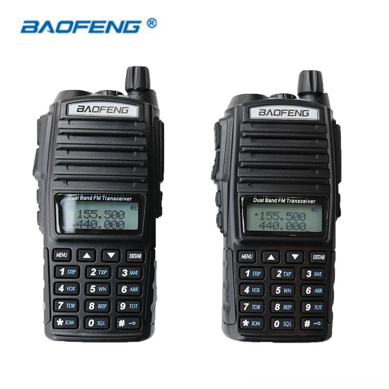 2 PCS UV 82 Baofeng HAM CB Radio Walkie Talkie Dual Band Dual PTT 2 Way