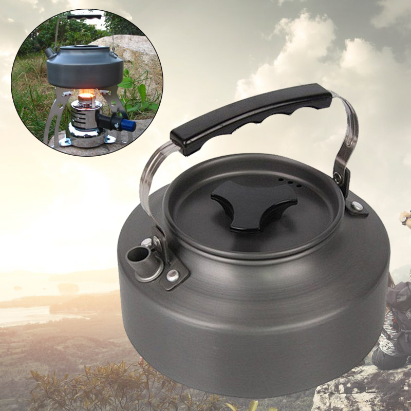 Outdoor Mini 1.1 Liters Kettle Camping Picnic Water Pot Teapot Hiking Tableware