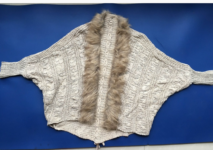 lady spring autumn sweater with fur (10)