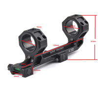 Airsoft Hunting Optics RifleScope Mount 25 4mm 30mm QD Rings Mount With Bubble Level Fit 20mm
