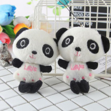 Cute Plush Animal Panda Doll LOVE Mini Panda Plush Pendant Cute Children's Toy Bag Hanging Decoration Plush Toy Bouquet Doll
