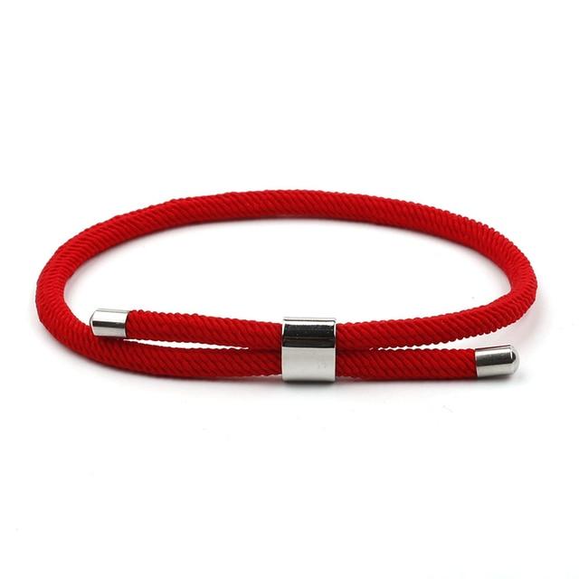 Bracelet Couple Tissu Rouge
