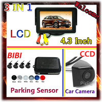 3 In 1 4 3 Inch Car Monitor For DVD VCD 2 Video Input CCD Rear