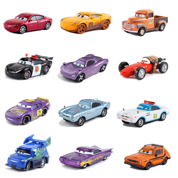 Disney Pixar Cars 2 3 Lightning McQueen Jackson Storm Cruz Mater Mack Uncle Truck 1:55 Diecast Metal Car Model Child Toy image