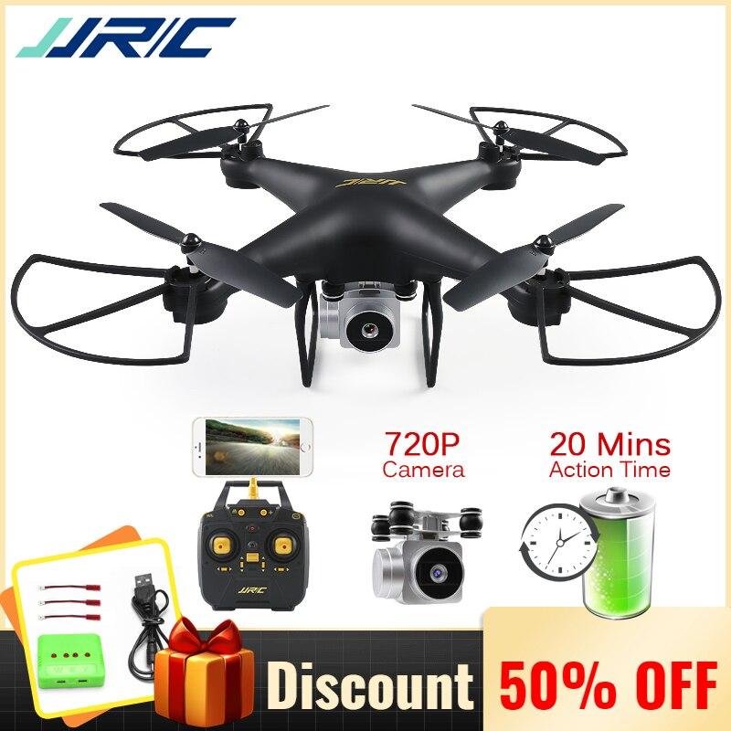 JJRC H68 Professional Drone с камерой Квадрокоптер 720 P Wifi FPV RC Квадрокоптер Дрон вертолет 20 минут Время полета