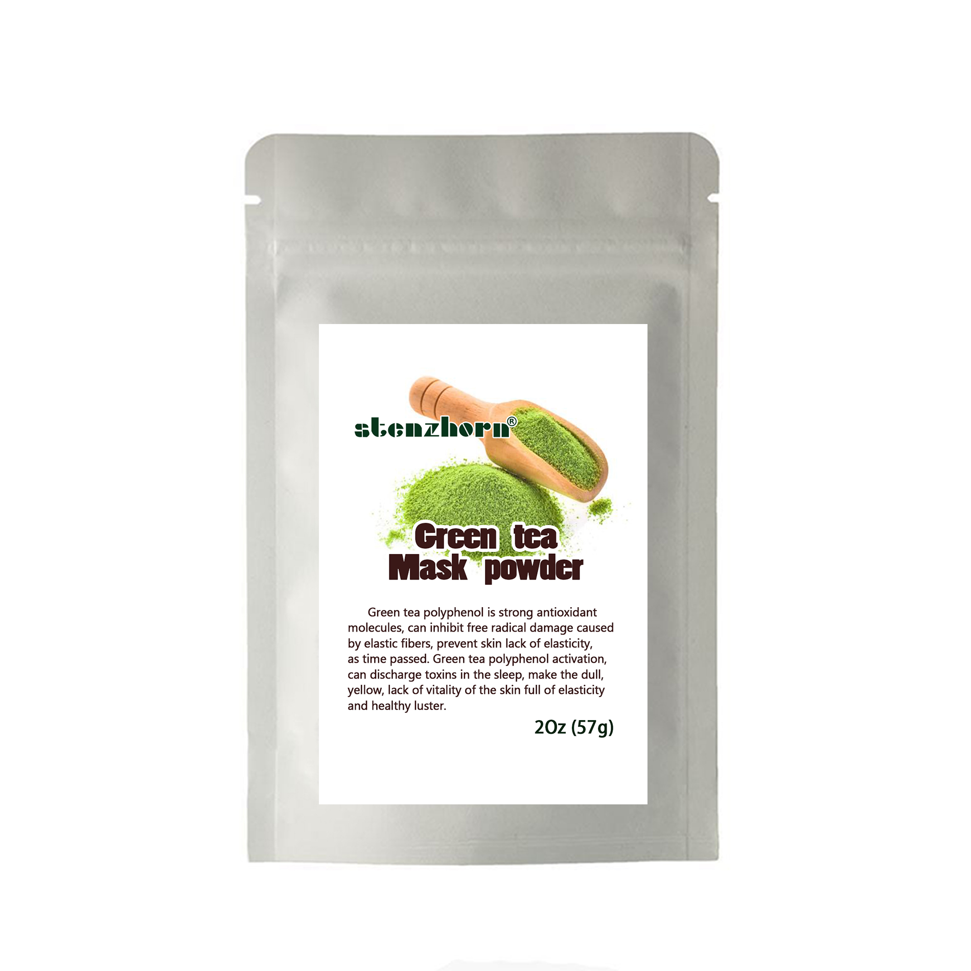 Hot Selling Matcha Green Tea Rejuvenation Soft Mask Powder