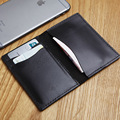 LANSPACE genuine leather men's card holder brand handmade card id holders