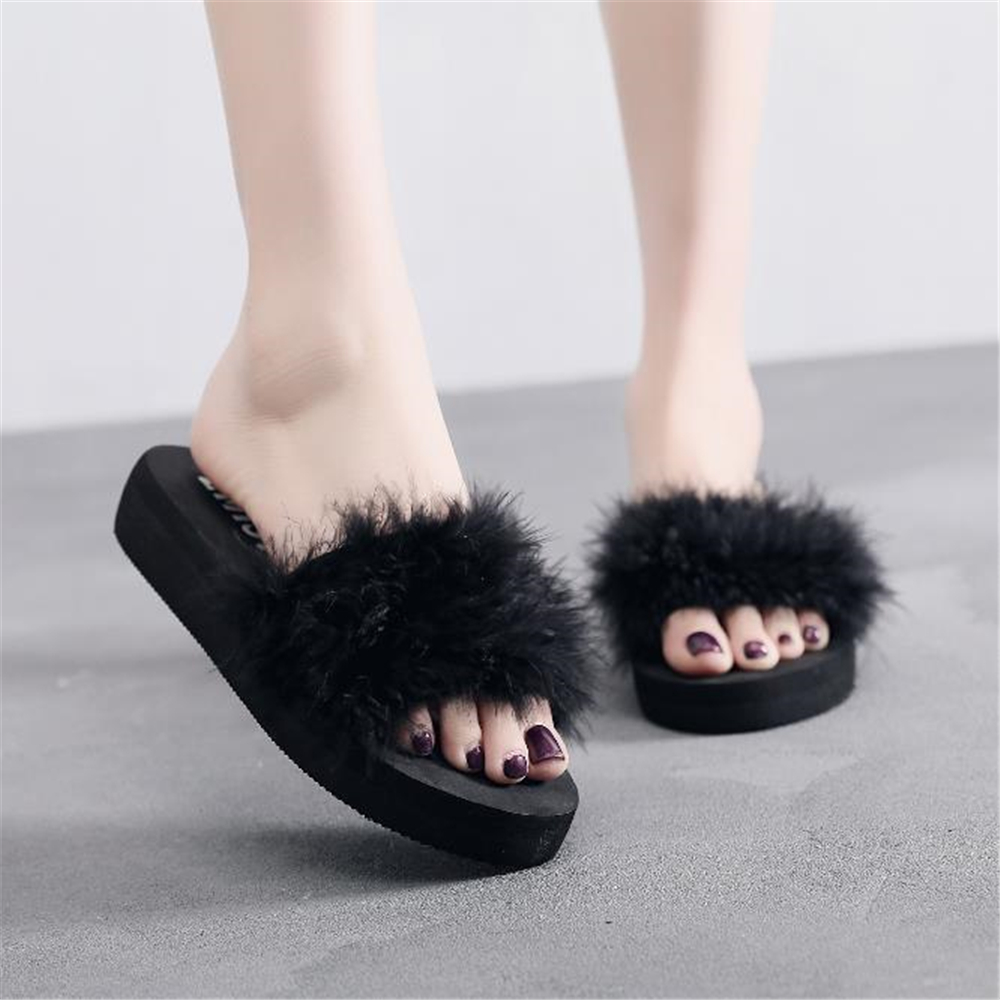 2018 autumn new style slippers ladies in the summer hand-made feather womens shoes Popular styles in Bohemia Hot sale2018 autumn new style slippers ladies in the summer hand-made feather womens shoes Popular styles in Bohemia Hot sale