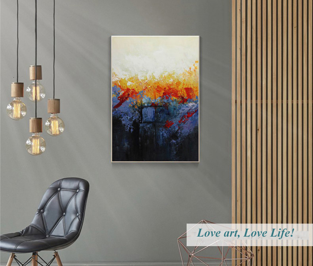 MUYA cuadros decoracion abstracta große leinwand wandkunst tableau ...
