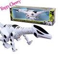 Feliz de la Cereza Niños Niños de Preescolar Diversión Fresca Luz Musical Robot Dinosaurio Modelo Animal Juguetes
