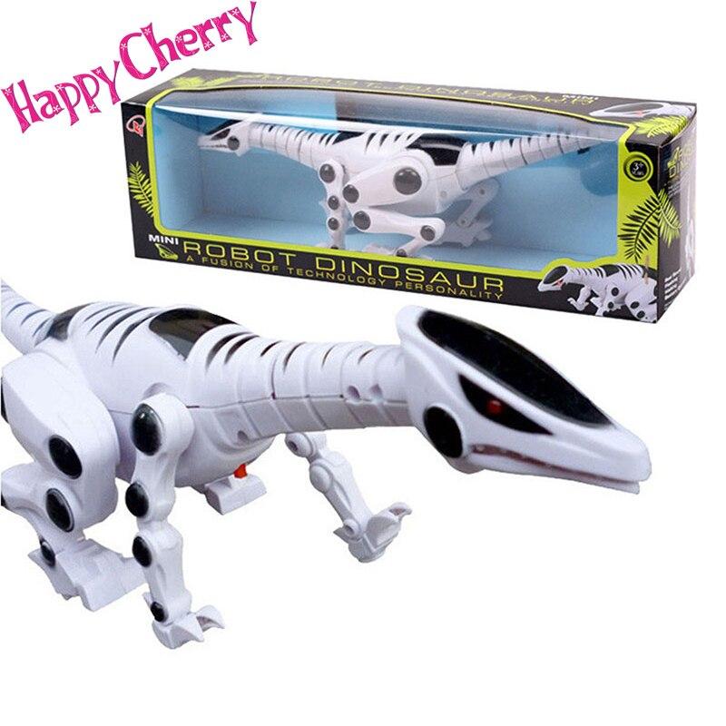 Mutlu Kiraz Çocuklar Çocuk Okul Öncesi Serin Eğlenceli Işık Müzikal Robot Dinozor Modeli Hayvan Oyuncaklar