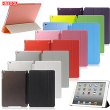 Luxe Tablet Schokbestendig Smart Leather Stand Case Cover voor Apple IPad 9.7 Inch 2017 2018 I Pad 5 Air 1 bescherming Coque Etui(China)