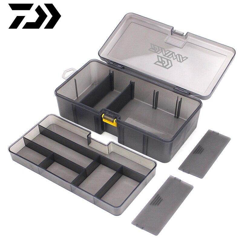 DAWA Multifunctional Lattice Box Fishing Tackle Box Compartments Storage DAIWA Fishing Lure Spoon Hook Bait Fishing Gear Box