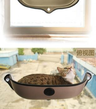 Removable pet Cat Window Bed Mounted dog cat hommock Sunbathing Cat Window dog Cat Lounger Perch Cushion Hanging Shelf 1