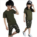 girls clothing sets Baby girls clothes baby sets short t shirt+pants 2 pcs set clothes kids baby boys outwear