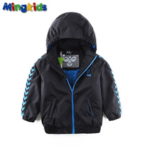 Mingkids Бомбер куртка мальчик весна водонепроницаемая ветронепродуваемая осень  теплая демисезонная одежда мальчик фирменная куртка  c лого лыжная куртка европейский размер bomber jacket