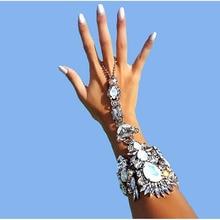 7 Colors Hot Style Fashion Bracelet Wedding big maxi Jewelry Sexy hand Chain fashion trendy Female Boho wild Crystal Bracelet