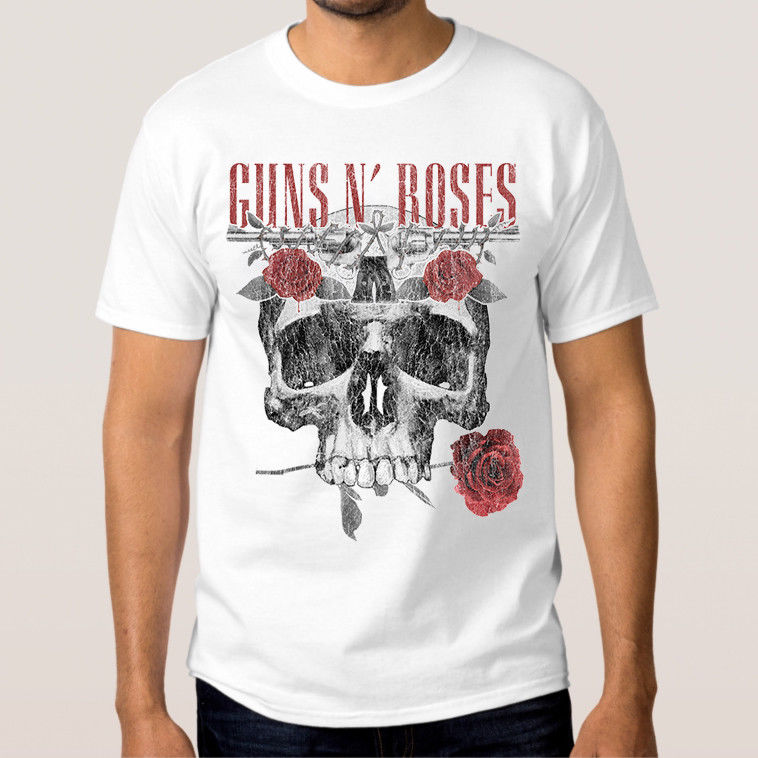 Guns N Roses T-shirt Mens Womens New Cotton Rock Tee XS-3XL Cool O-Neck Tops