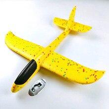 Niños juguete mano tirando espuma de avión modelo 9 Colores de 35*35 CM deportes al aire libre aviones Juguetes para juego de niños aviones TY0369