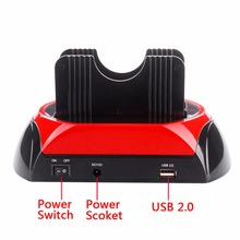 2.5 Inch 3.5 Inch IDE SATA USB Dual HDD Hard Drive Disk Docking Station Base