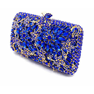 Hollow Out gold Evening Socialite Crystal Clutch  3