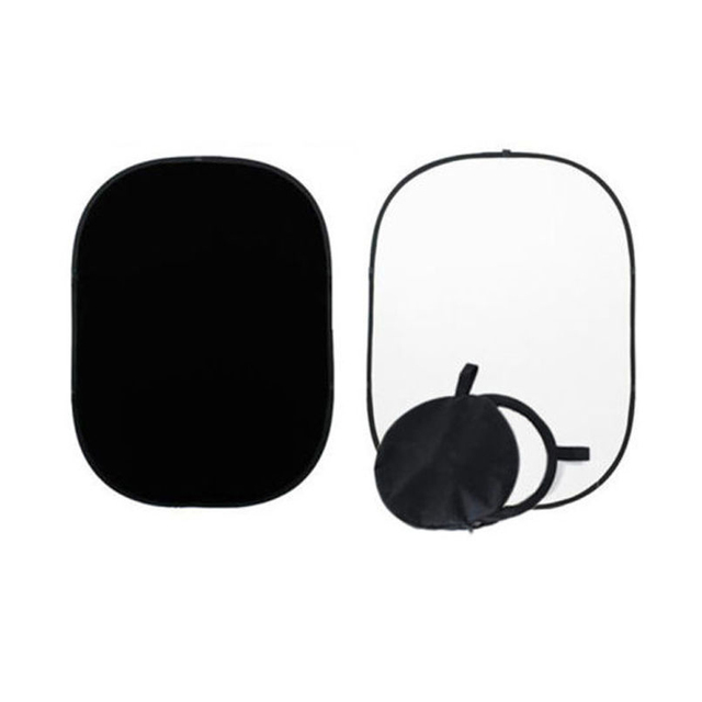 2x1.5m czarno białe tło dwustronne Studio składane muślinowe tło akcesoria do studia fotograficznego