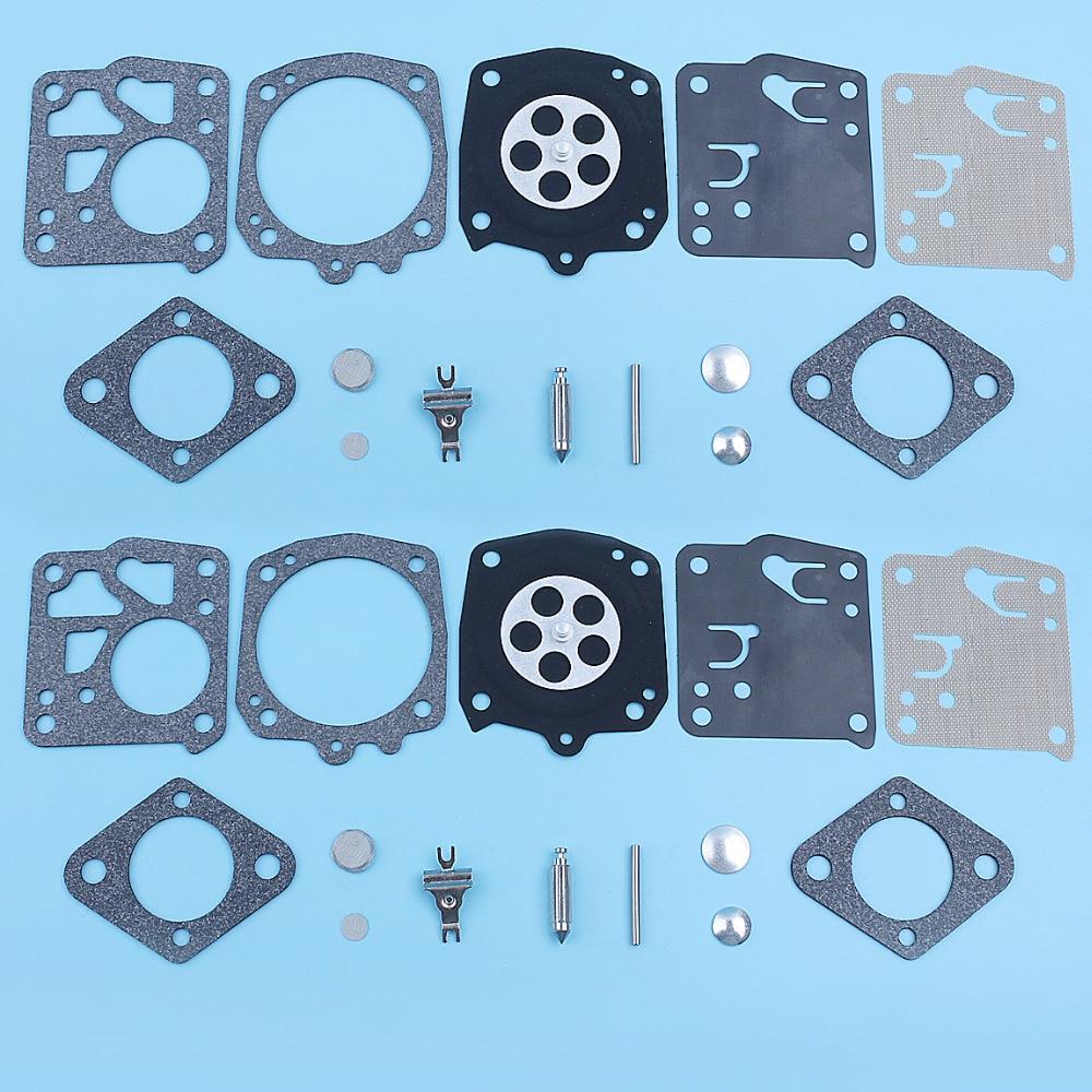 2pcs Carburetor Kit Fit For TILLOTSON RK-23HS RK-17HS HOMELITE XL SXL915 STIHL 051 PARTNER 40 K1200 ECHO CS60 JONSERED 625 630